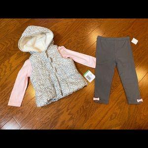 Brand new Little Me puffer vest set